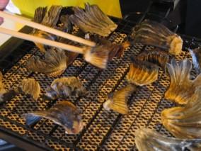 ふぐ鰭は、こんがり念入りに焼き上げます。