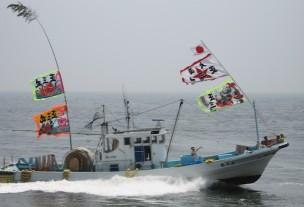 篠島 船団パレード